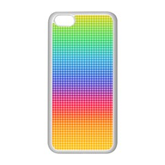 Plaid Rainbow Retina Green Purple Red Yellow Apple iPhone 5C Seamless Case (White)