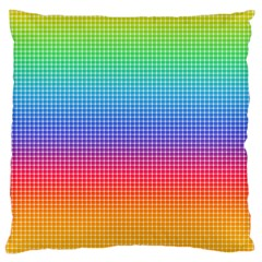 Plaid Rainbow Retina Green Purple Red Yellow Large Flano Cushion Case (one Side)