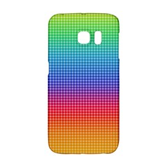 Plaid Rainbow Retina Green Purple Red Yellow Galaxy S6 Edge