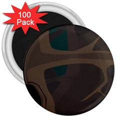 Tree Jungle Brown Green 3  Magnets (100 pack)