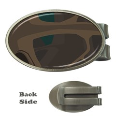 Tree Jungle Brown Green Money Clips (Oval)