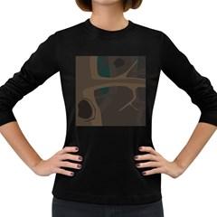 Tree Jungle Brown Green Women s Long Sleeve Dark T-Shirts