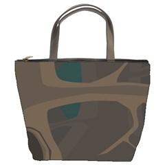 Tree Jungle Brown Green Bucket Bags