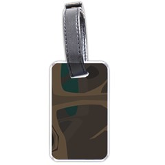 Tree Jungle Brown Green Luggage Tags (One Side)
