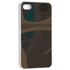 Tree Jungle Brown Green Apple iPhone 4/4s Seamless Case (White)