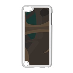 Tree Jungle Brown Green Apple iPod Touch 5 Case (White)