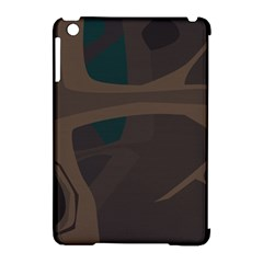 Tree Jungle Brown Green Apple iPad Mini Hardshell Case (Compatible with Smart Cover)
