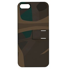 Tree Jungle Brown Green Apple iPhone 5 Hardshell Case with Stand