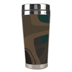 Tree Jungle Brown Green Stainless Steel Travel Tumblers