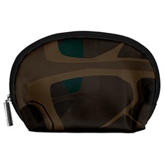 Tree Jungle Brown Green Accessory Pouches (Large)