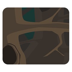 Tree Jungle Brown Green Double Sided Flano Blanket (Small)