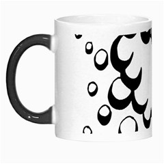Splash Bubble Black White Polka Circle Morph Mugs