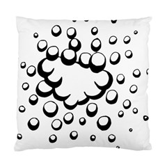 Splash Bubble Black White Polka Circle Standard Cushion Case (One Side)