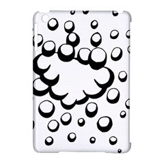 Splash Bubble Black White Polka Circle Apple iPad Mini Hardshell Case (Compatible with Smart Cover)