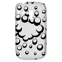 Splash Bubble Black White Polka Circle Galaxy S3 Mini