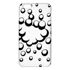 Splash Bubble Black White Polka Circle iPhone 6 Plus/6S Plus TPU Case