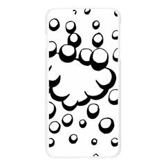 Splash Bubble Black White Polka Circle Apple Seamless iPhone 6 Plus/6S Plus Case (Transparent)