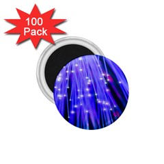 Neon Light Line Vertical Blue 1.75  Magnets (100 pack)