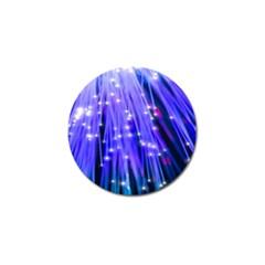 Neon Light Line Vertical Blue Golf Ball Marker (4 pack)