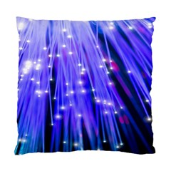 Neon Light Line Vertical Blue Standard Cushion Case (One Side)