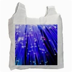 Neon Light Line Vertical Blue Recycle Bag (Two Side)