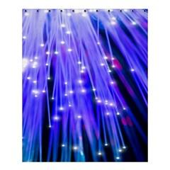 Neon Light Line Vertical Blue Shower Curtain 60  x 72  (Medium)