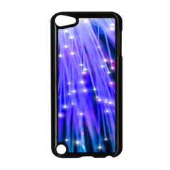 Neon Light Line Vertical Blue Apple iPod Touch 5 Case (Black)