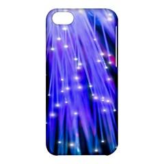 Neon Light Line Vertical Blue Apple iPhone 5C Hardshell Case