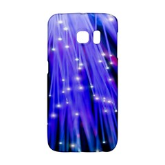Neon Light Line Vertical Blue Galaxy S6 Edge