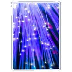 Neon Light Line Vertical Blue Apple Ipad Pro 9 7   White Seamless Case
