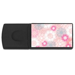Scrapbook Paper Iridoby Flower Floral Sunflower Rose USB Flash Drive Rectangular (2 GB)