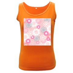 Scrapbook Paper Iridoby Flower Floral Sunflower Rose Women s Dark Tank Top