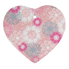 Scrapbook Paper Iridoby Flower Floral Sunflower Rose Heart Ornament (two Sides)