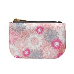 Scrapbook Paper Iridoby Flower Floral Sunflower Rose Mini Coin Purses