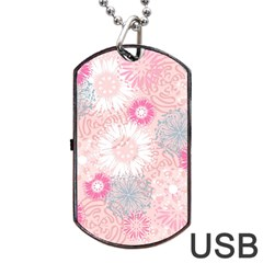 Scrapbook Paper Iridoby Flower Floral Sunflower Rose Dog Tag USB Flash (One Side)