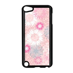 Scrapbook Paper Iridoby Flower Floral Sunflower Rose Apple iPod Touch 5 Case (Black)