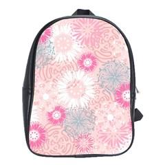 Scrapbook Paper Iridoby Flower Floral Sunflower Rose School Bags (XL)