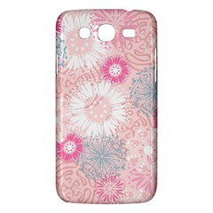 Scrapbook Paper Iridoby Flower Floral Sunflower Rose Samsung Galaxy Mega 5.8 I9152 Hardshell Case