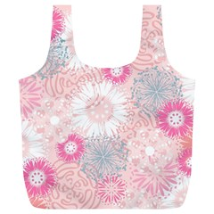 Scrapbook Paper Iridoby Flower Floral Sunflower Rose Full Print Recycle Bags (L)