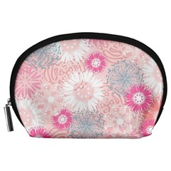 Scrapbook Paper Iridoby Flower Floral Sunflower Rose Accessory Pouches (Large)
