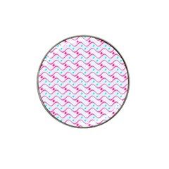 Squiggle Red Blue Milk Glass Waves Chevron Wave Pink Hat Clip Ball Marker (10 pack)