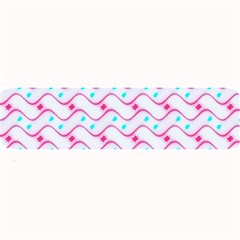 Squiggle Red Blue Milk Glass Waves Chevron Wave Pink Large Bar Mats