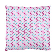Squiggle Red Blue Milk Glass Waves Chevron Wave Pink Standard Cushion Case (one Side)