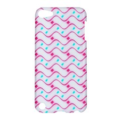 Squiggle Red Blue Milk Glass Waves Chevron Wave Pink Apple iPod Touch 5 Hardshell Case