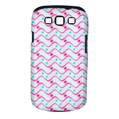 Squiggle Red Blue Milk Glass Waves Chevron Wave Pink Samsung Galaxy S III Classic Hardshell Case (PC+Silicone)