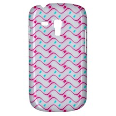 Squiggle Red Blue Milk Glass Waves Chevron Wave Pink Galaxy S3 Mini