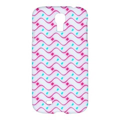 Squiggle Red Blue Milk Glass Waves Chevron Wave Pink Samsung Galaxy S4 I9500/I9505 Hardshell Case