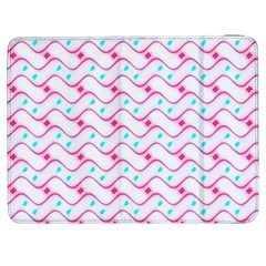 Squiggle Red Blue Milk Glass Waves Chevron Wave Pink Samsung Galaxy Tab 7  P1000 Flip Case