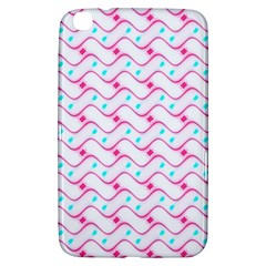 Squiggle Red Blue Milk Glass Waves Chevron Wave Pink Samsung Galaxy Tab 3 (8 ) T3100 Hardshell Case