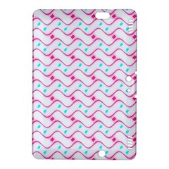 Squiggle Red Blue Milk Glass Waves Chevron Wave Pink Kindle Fire HDX 8.9  Hardshell Case